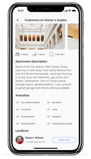 Screen of Landlord app for iPhone X - Silver (1)