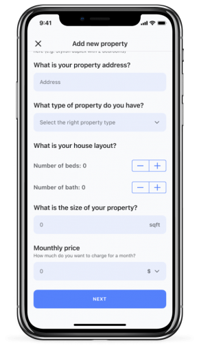 Screen of Landlord app for iPhone X - Silver (10)