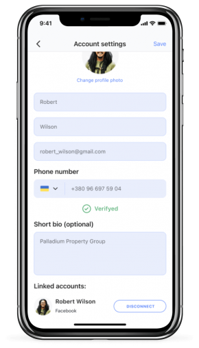 Screen of Landlord app for iPhone X - Silver (3)