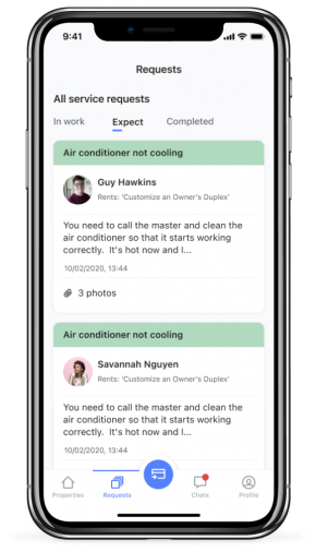 Screen of Landlord app for iPhone X - Silver (7)
